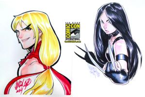 SDCC 06 - Ken Masters and X-23 by theCHAMBA