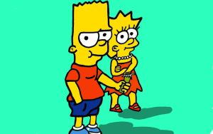 BART and Lisa  by Shadowtek25
