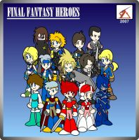 Final Fantasy Heroes by Delta-Kaoz