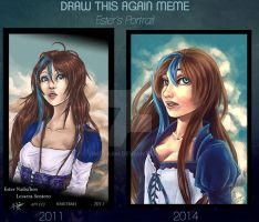 DRAW THIS AGAIN MEME - 2011/2014- Ester's Portrait by Simetrah
