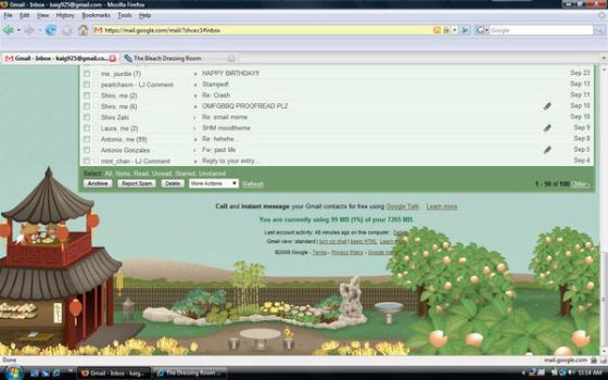 Gmail Theme - Tea House 3 by shiawase-ai