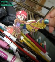 Paperchild Chibi Gaara closeup by Komalash