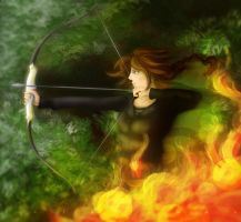 The girl on fire. by Catriinaa