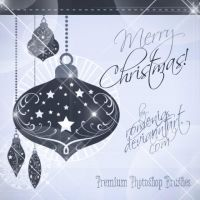 Lovely Pendant Christmas Ornaments Brushes by Romenig