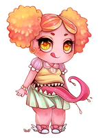 Yum! - Chibi commission by clover-teapot