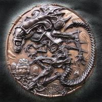 QUEEN ALIEN, Wall plaque sculpture. by Mixta110