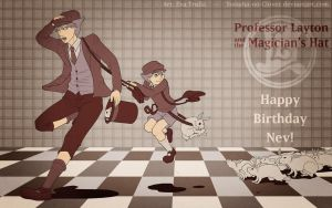 - Professor Layton and the Magician's Hat - by Yotsuba-no-Clover