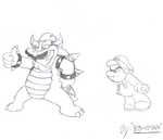 Bowser's Mustache by YoshiMan1118