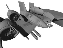 Close up of fighter-bomber by Claevius