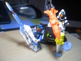 Custom LEGO Kamen Rider Fourze Base Cosmic States by Digger318
