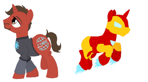 Pony Stark/Iron Pony by zafara1222