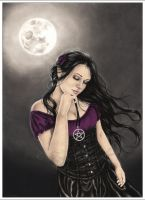 Moon Spell Book Cover by Zindy