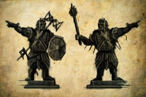 Forodren Auth: Dwarven Statues 2 by Meanor