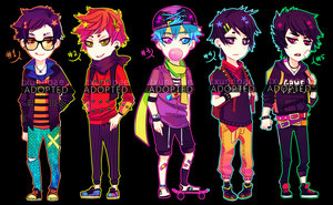 Neon Punk Adoptables 001 [CLOSE] by txunnpae