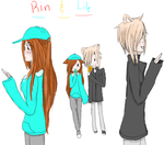 Rin and Lile by amaitora-nya