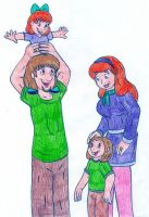 Shaggy and Daphne's kids by Jose-Ramiro