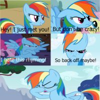 Rainbow Dash: Call Me Maybe by FuzzyyPanda