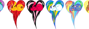 Adoptables: MLP Pony Hearts by NINETAILEDDEMON1940