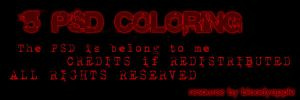 PSD Coloring Pack by BloodyApple23