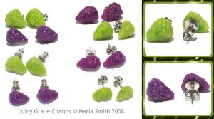 Juicy Grape Studs by chat-noir