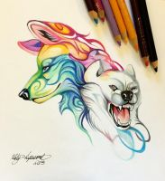 288- Wolf Design by Lucky978