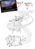 Thor versus Nyan cat by e4animation