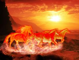 Flame Horse Version 1 small by Tom-in-Silence