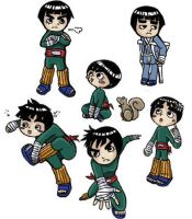 an attack of Lee chibis- color by -babykefka-