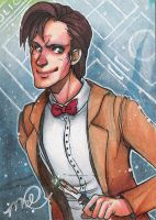 11th Doctor sketch card by luniara