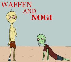 Waffen and Nogi by yeagerspace