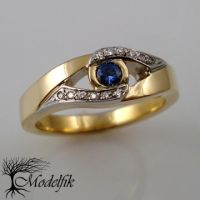 Sapphire and Diamonds  ring by Modelfik
