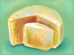 food art: slices of cheese. by zoiocen