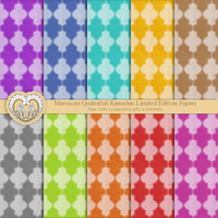 Free Moroccan Quatrefoil Digital Texture Patterns by artistaq8