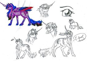 Sketchdump: Twilight Sparkle by jessi-dragon-rider