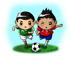 Chicharito vs Alexis by YukiMiyasawa