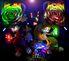 Tails and Klonoa at Party by Lord-Kiyo