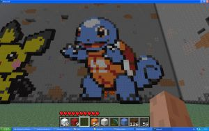 Squirtle On Minecraft by Miccopicco