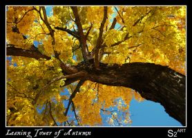 Leaning Tower of Autumn by theon07