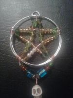 Pentacle wire wrapped pendant by WyckedDreamsDesigns