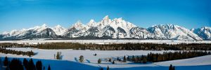 tetons in snow by DGAnder
