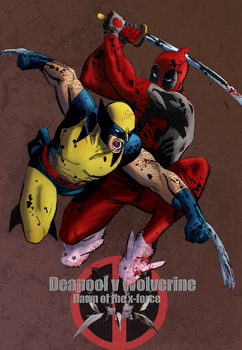 Deadpool v wolv dawn of the x-force by comic-eeb
