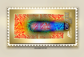 Art  2195 - Big Stamp by oboudiart