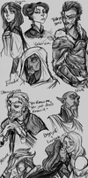 NPC Sketches 2 by the-Orator