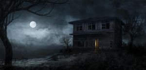 haunted house by greensandsguy