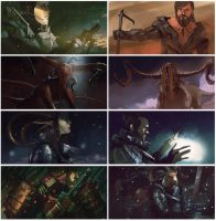July Speedpaints by bradwright