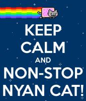 Keep Calm and Nyan-cat by mandy-c