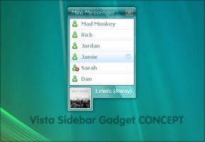 Concept: WLM sidebar gadget by digitalsoft