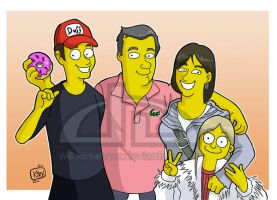 Family Simpsons by kirschner