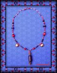 CORAL AND AGATE NECKLACE by Voodoomamma