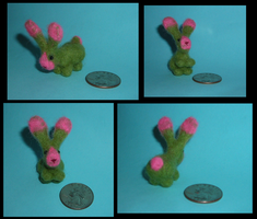 Needle Felted Bunny by StonerKitty